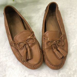 Coach Nadia Moccasin Leather Driving Loafer sz 8B